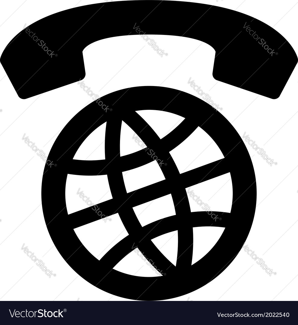 International calls worldwide icon vector | Price: 1 Credit (USD $1)