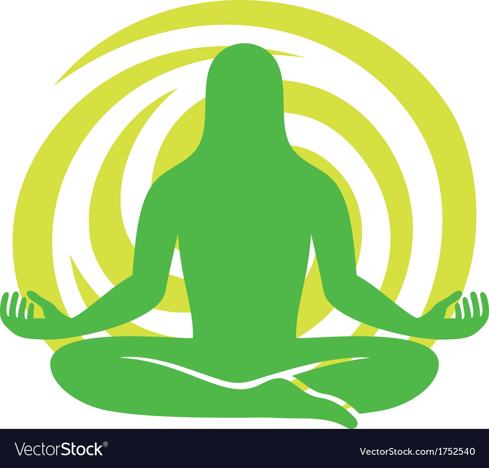 Man figure meditating symbol vector | Price: 1 Credit (USD $1)