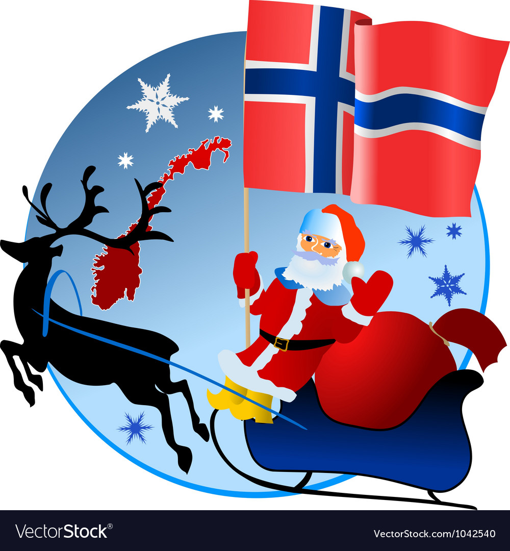 Merry christmas norway vector | Price: 1 Credit (USD $1)