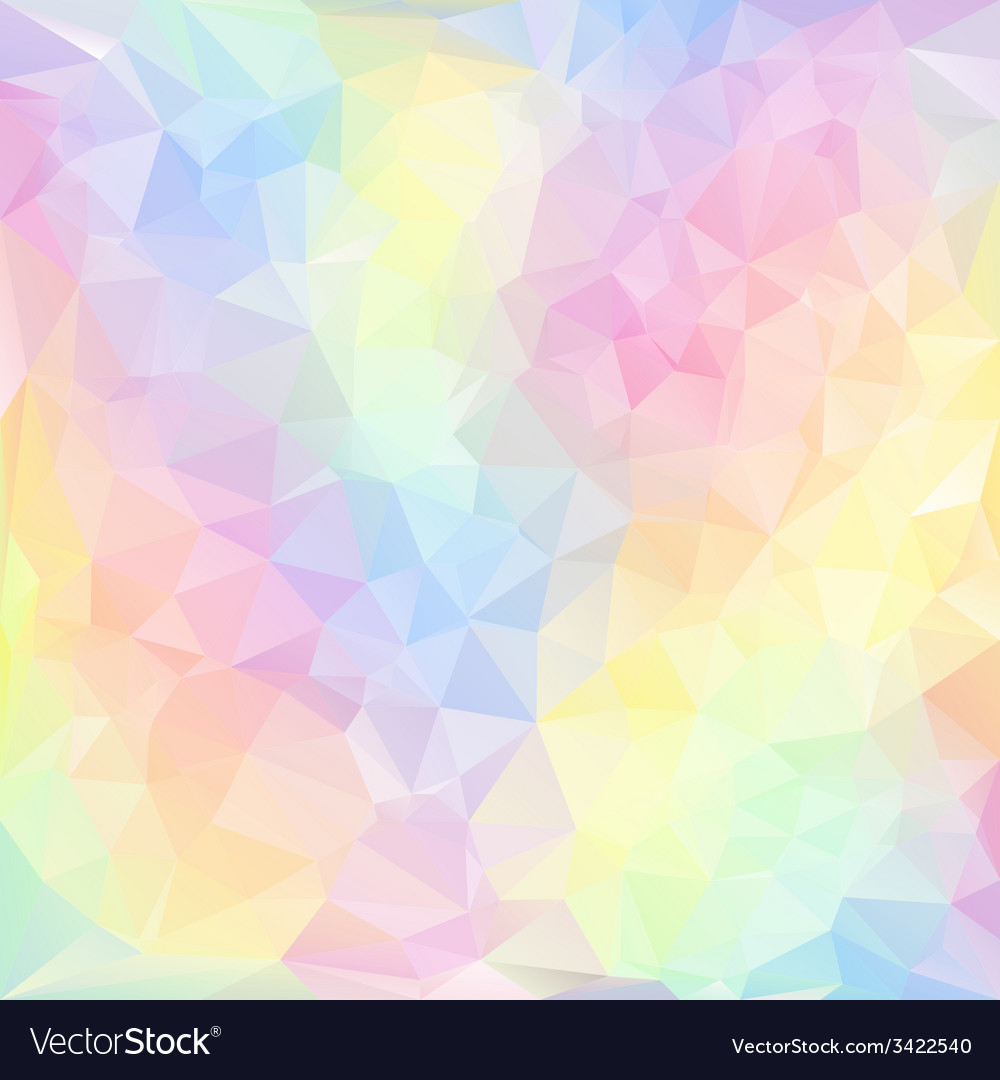 Pastel spring polygonal triangular pattern vector | Price: 1 Credit (USD $1)