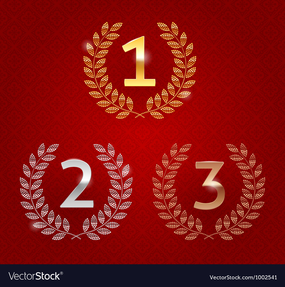 1st 2nd 3rd awards golden emblems vector | Price: 1 Credit (USD $1)