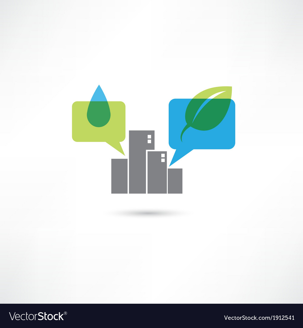 Big eco city vector | Price: 1 Credit (USD $1)
