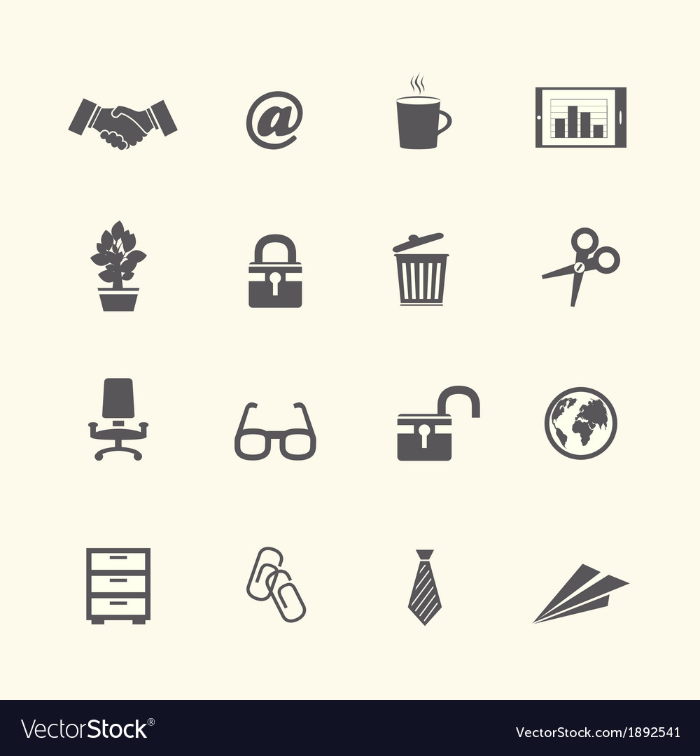 Business stationery supplies internet collection vector | Price: 1 Credit (USD $1)