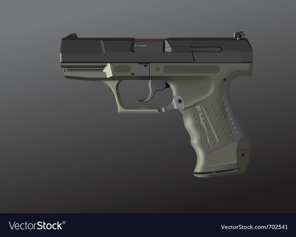Detailed hand gun vector | Price: 1 Credit (USD $1)