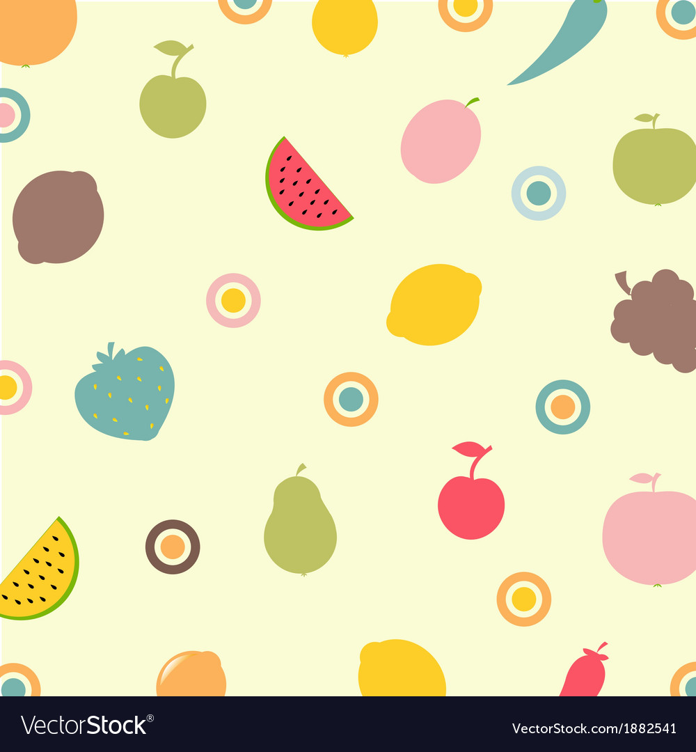 Fruits and vegetables abstract background vector | Price: 1 Credit (USD $1)