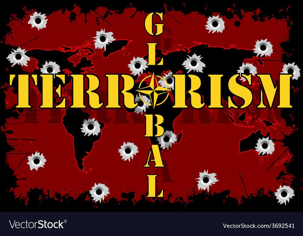 Global terrorism vector | Price: 1 Credit (USD $1)