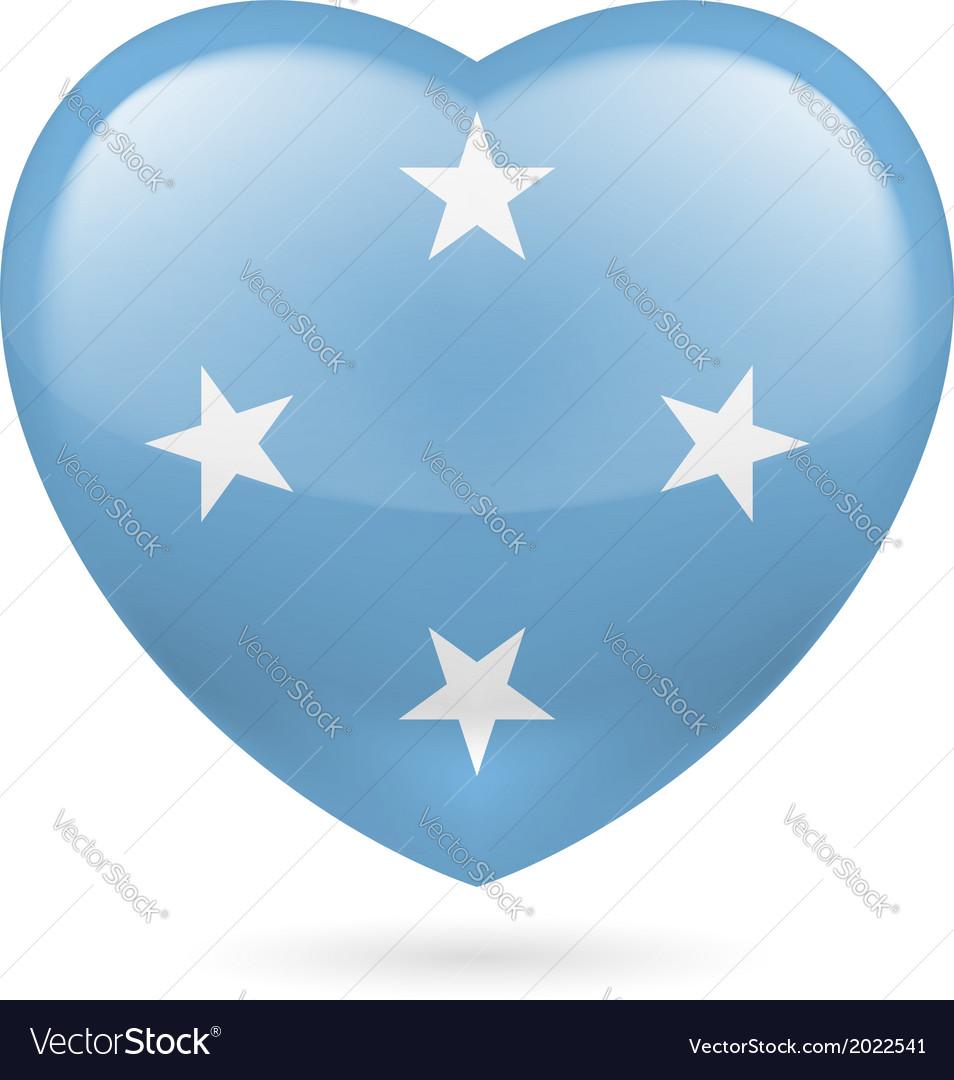 Heart icon of micronesia vector   Price: 1 Credit (USD $1)