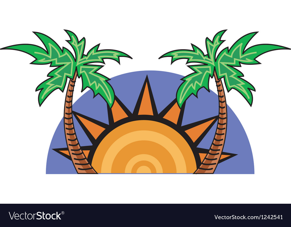 Palm tree tropical vector | Price: 1 Credit (USD $1)