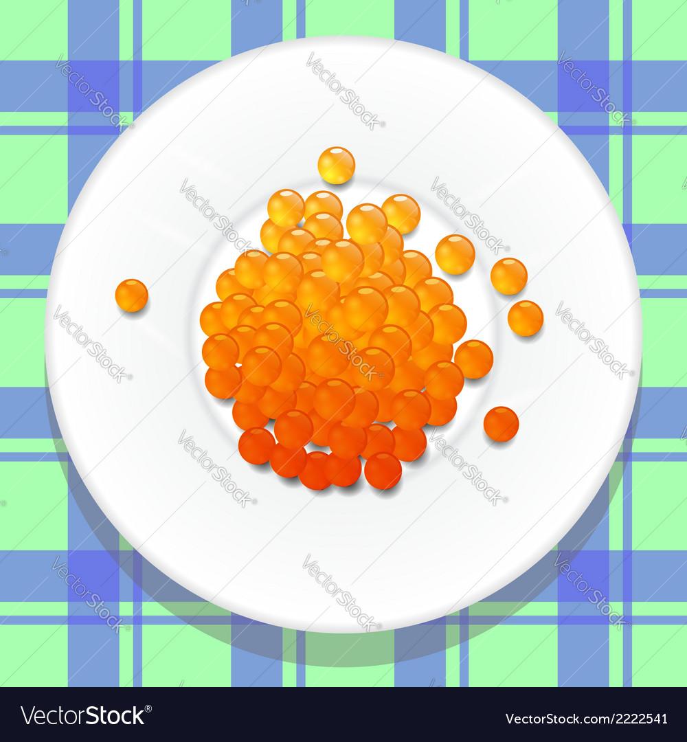 Red caviar vector | Price: 1 Credit (USD $1)