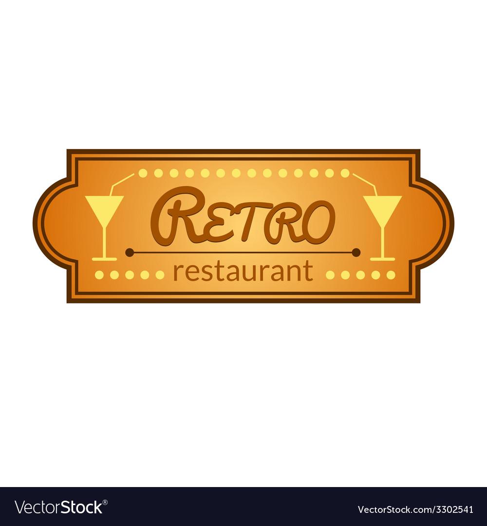 Retro restaurant label vector | Price: 1 Credit (USD $1)