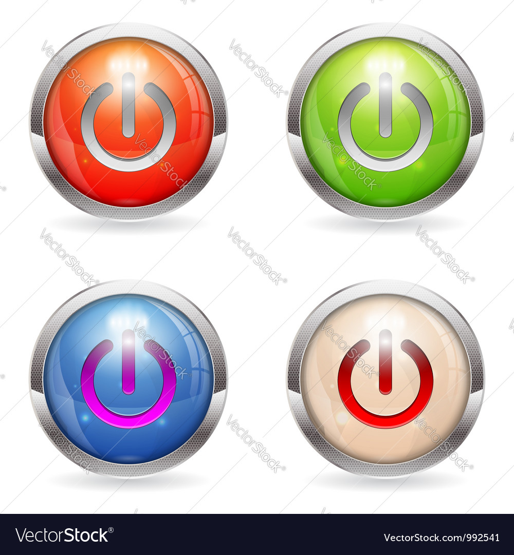 Set gloss button with switch vector | Price: 1 Credit (USD $1)