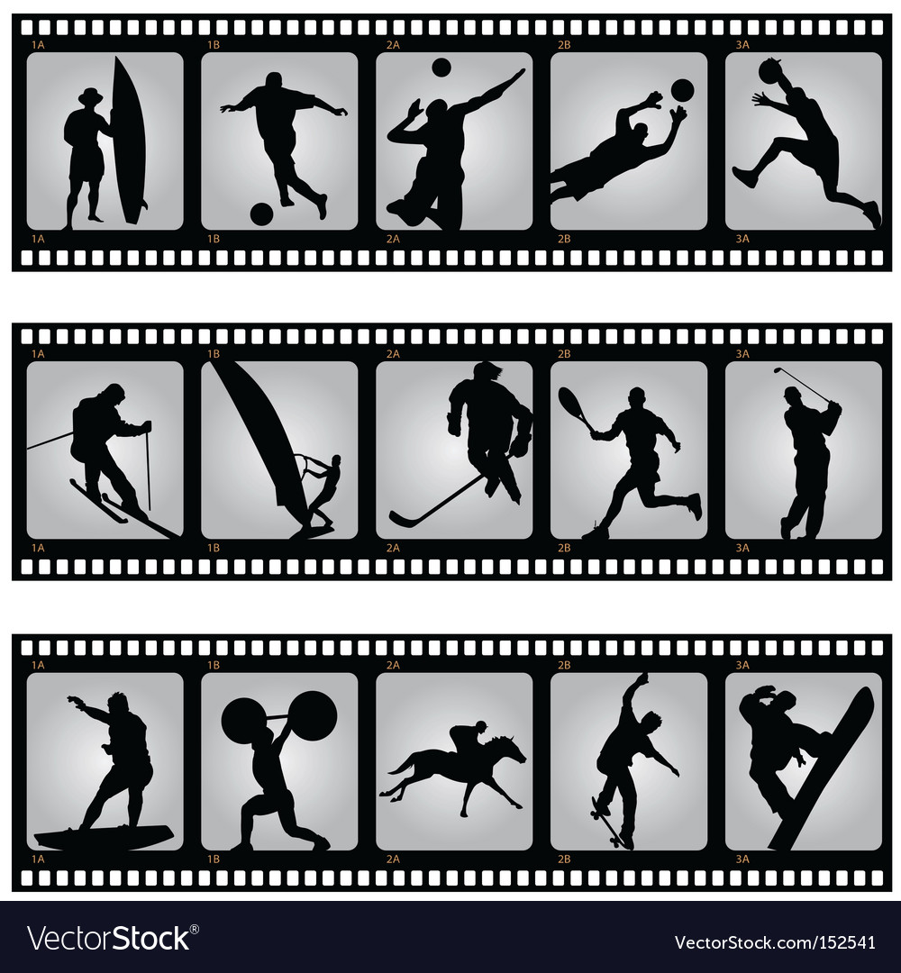 Sport filmstrip scene vector | Price: 1 Credit (USD $1)