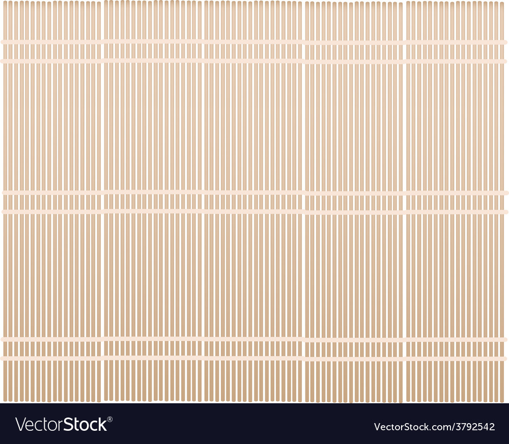 A brown bamboo mat on white background vector | Price: 1 Credit (USD $1)