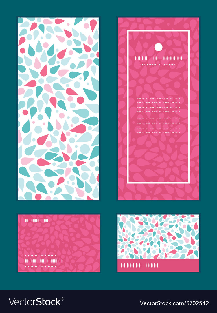 Abstract colorful drops vertical frame vector | Price: 1 Credit (USD $1)