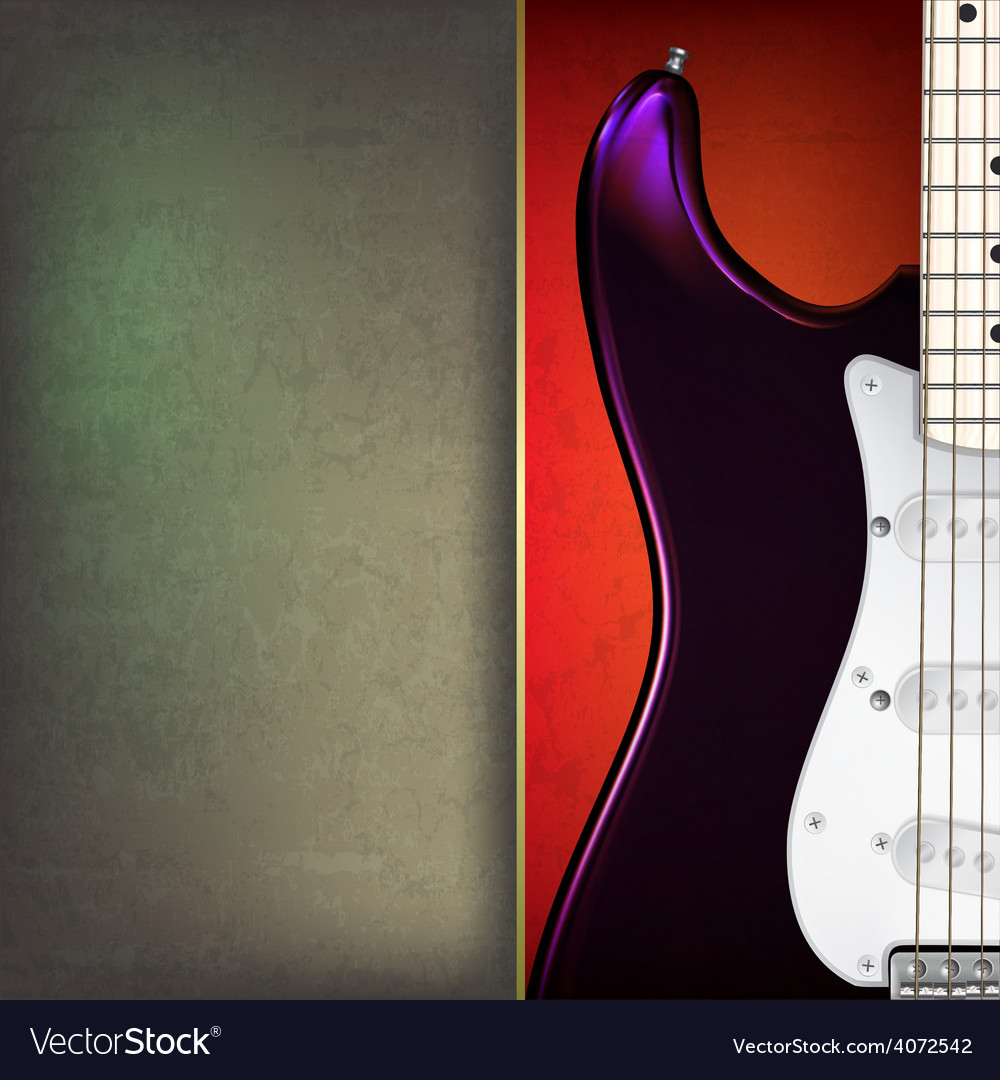 Abstract grunge background with electric guitar on vector | Price: 1 Credit (USD $1)