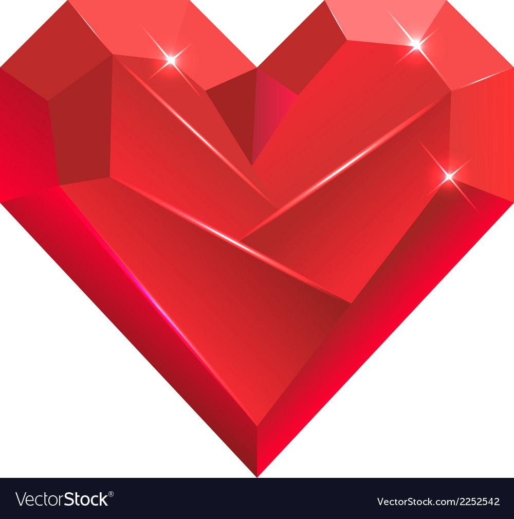 Abstract valentine heart gem vector | Price: 1 Credit (USD $1)
