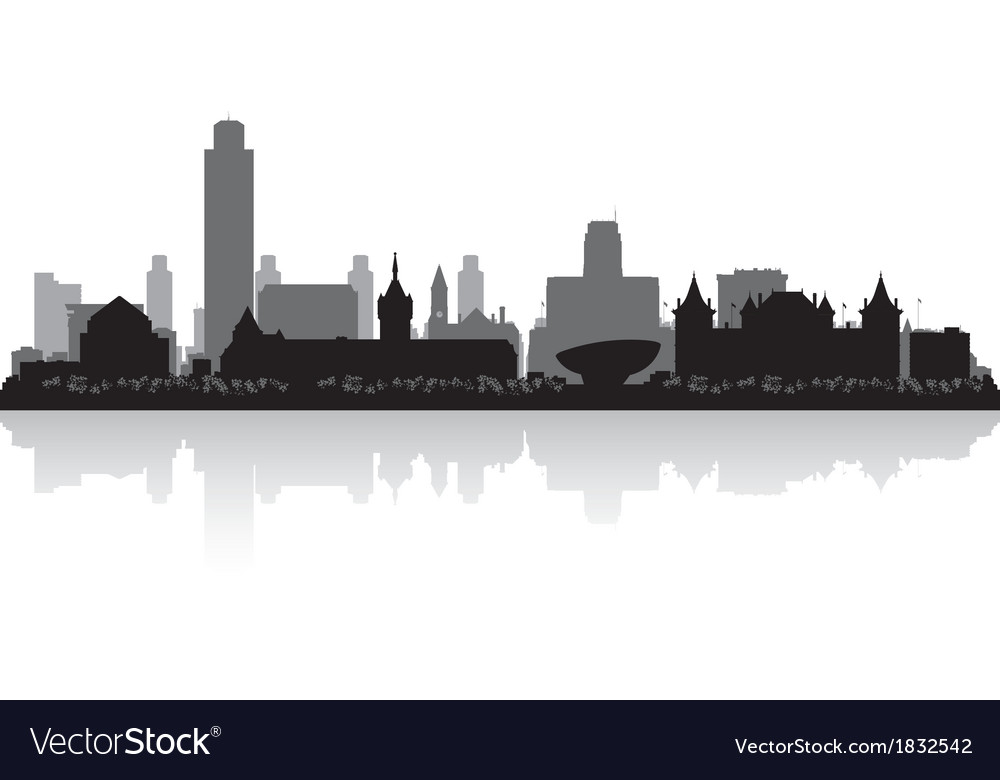 Albany new york city skyline silhouette vector | Price: 1 Credit (USD $1)