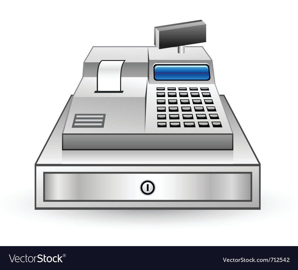 Cash register vector | Price: 3 Credit (USD $3)