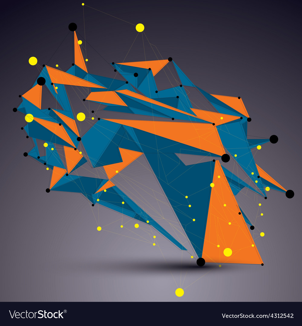 Complicated abstract colorful 3d shape bright vector | Price: 1 Credit (USD $1)