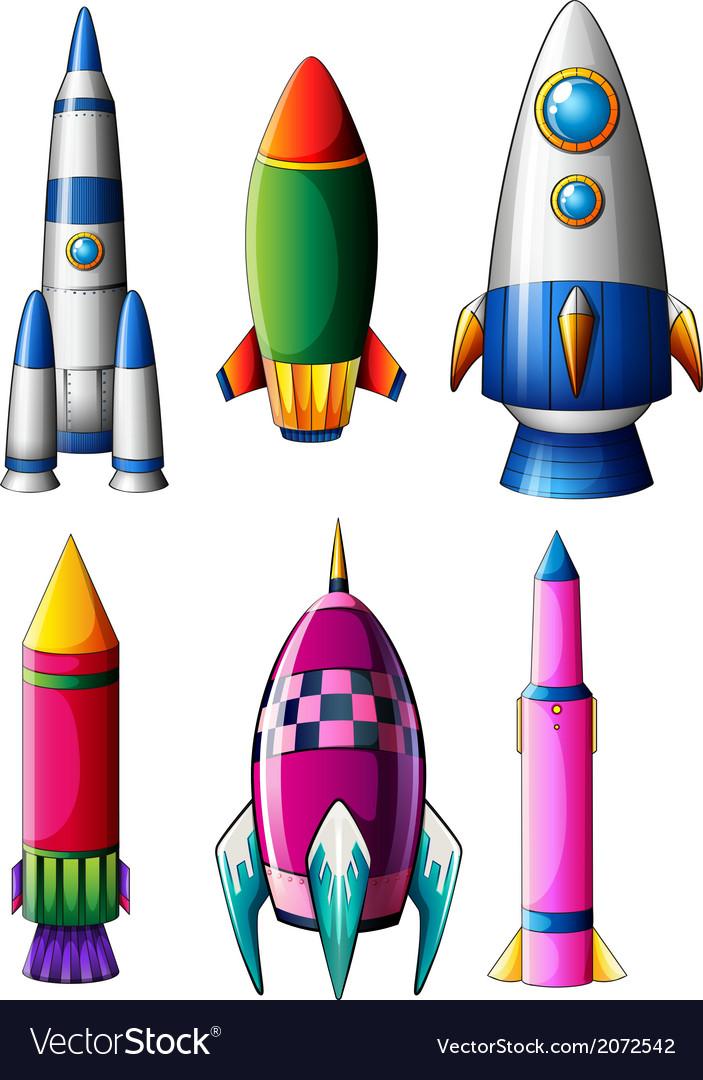 Different rocket designs vector | Price: 1 Credit (USD $1)