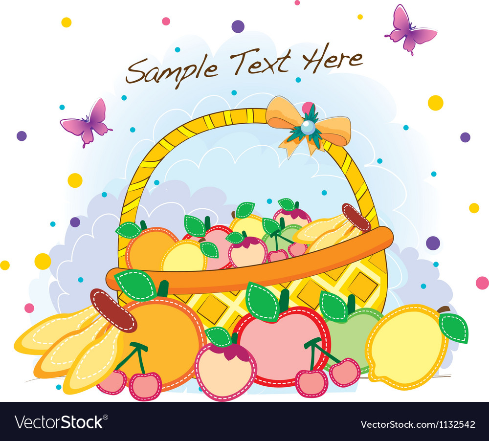 Funky fruit mix vector | Price: 1 Credit (USD $1)