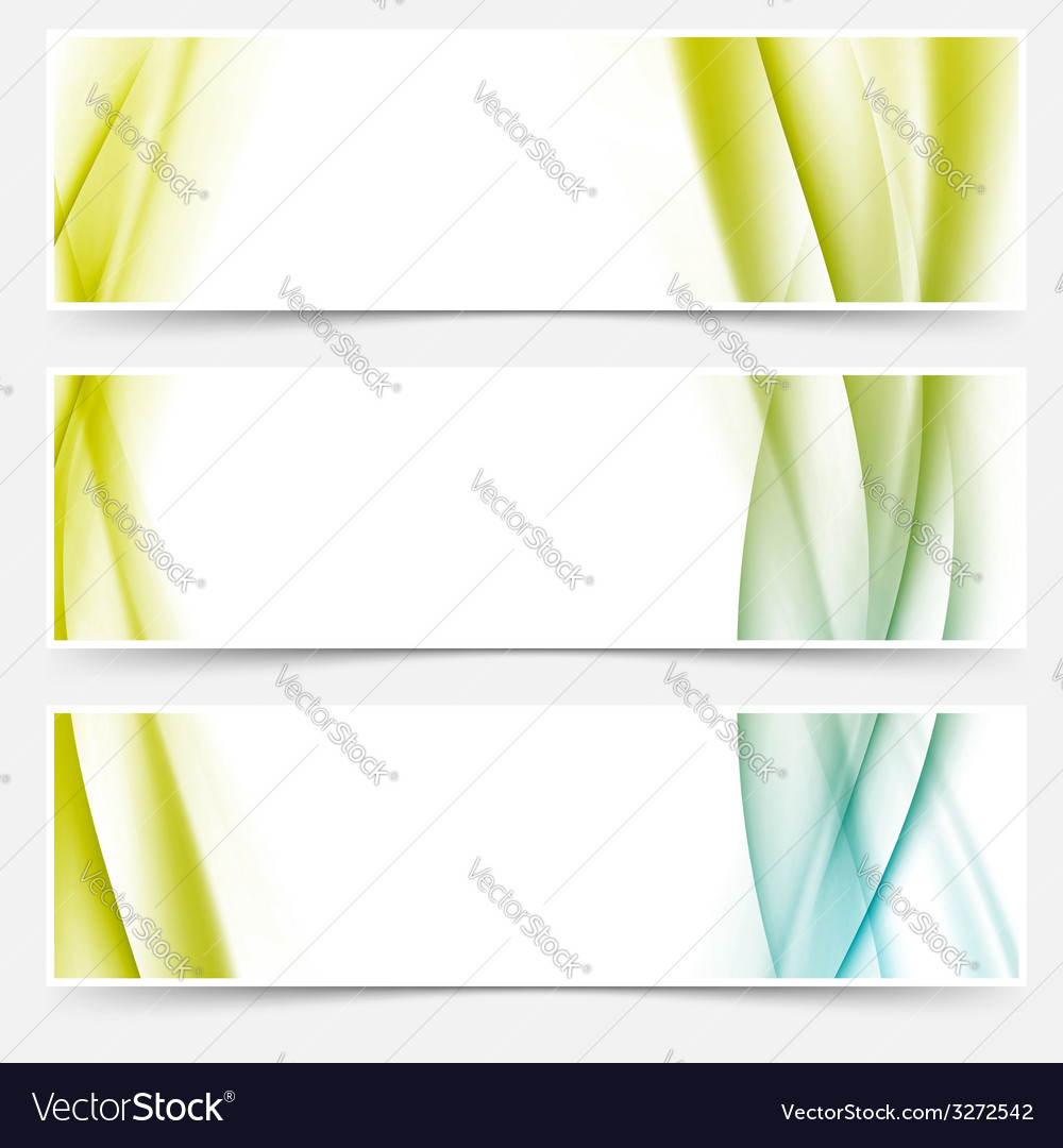 Header footer web modern satin line collection vector | Price: 1 Credit (USD $1)