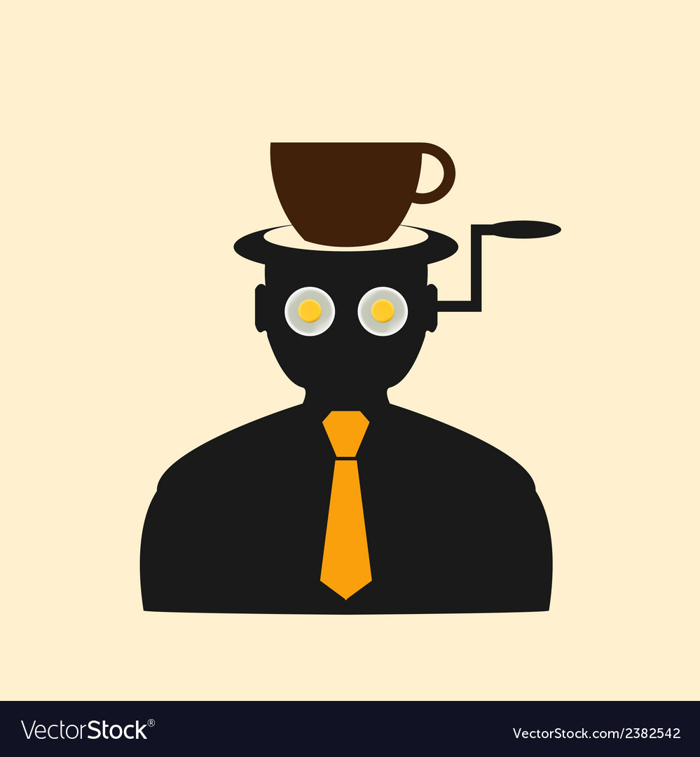 Icon man thinking about breakfast vector | Price: 1 Credit (USD $1)