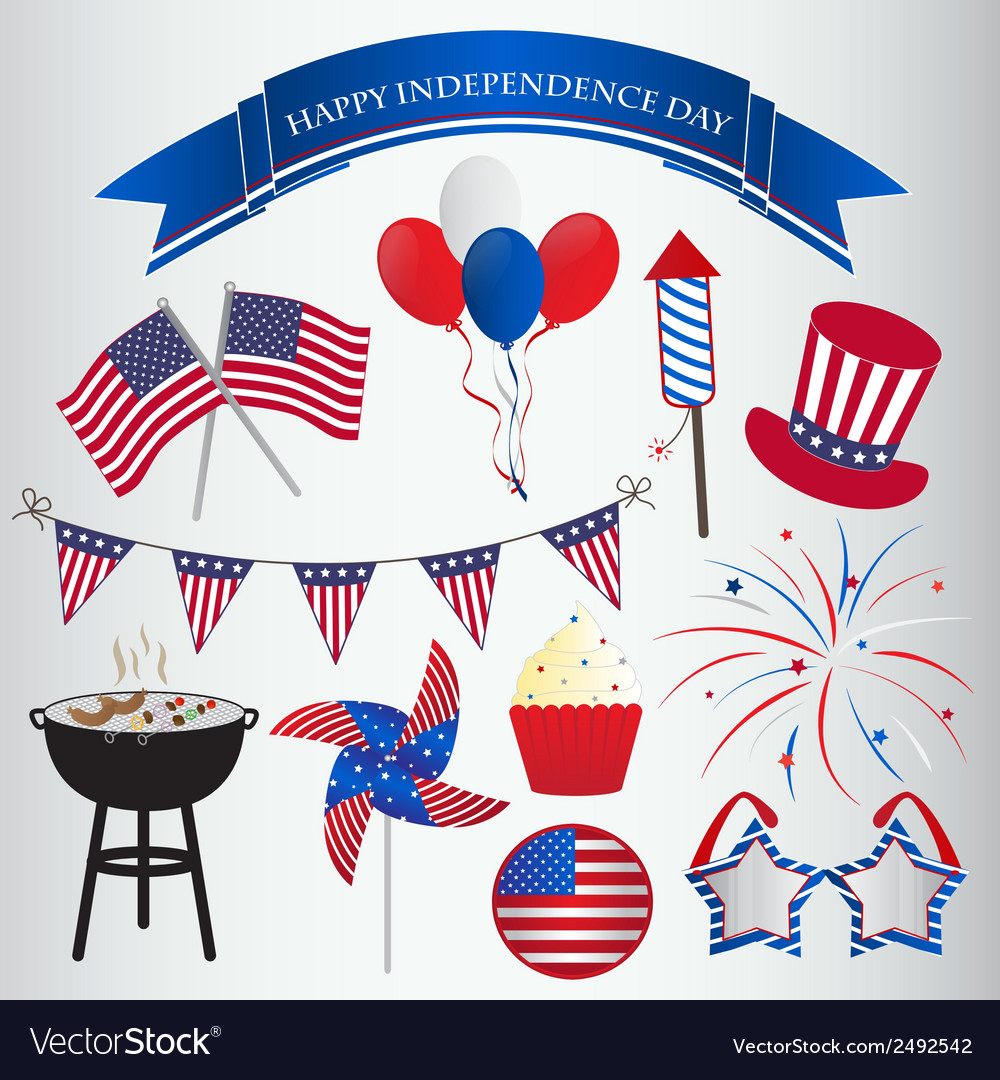 Icons design for 4th of july independence day vector | Price: 1 Credit (USD $1)