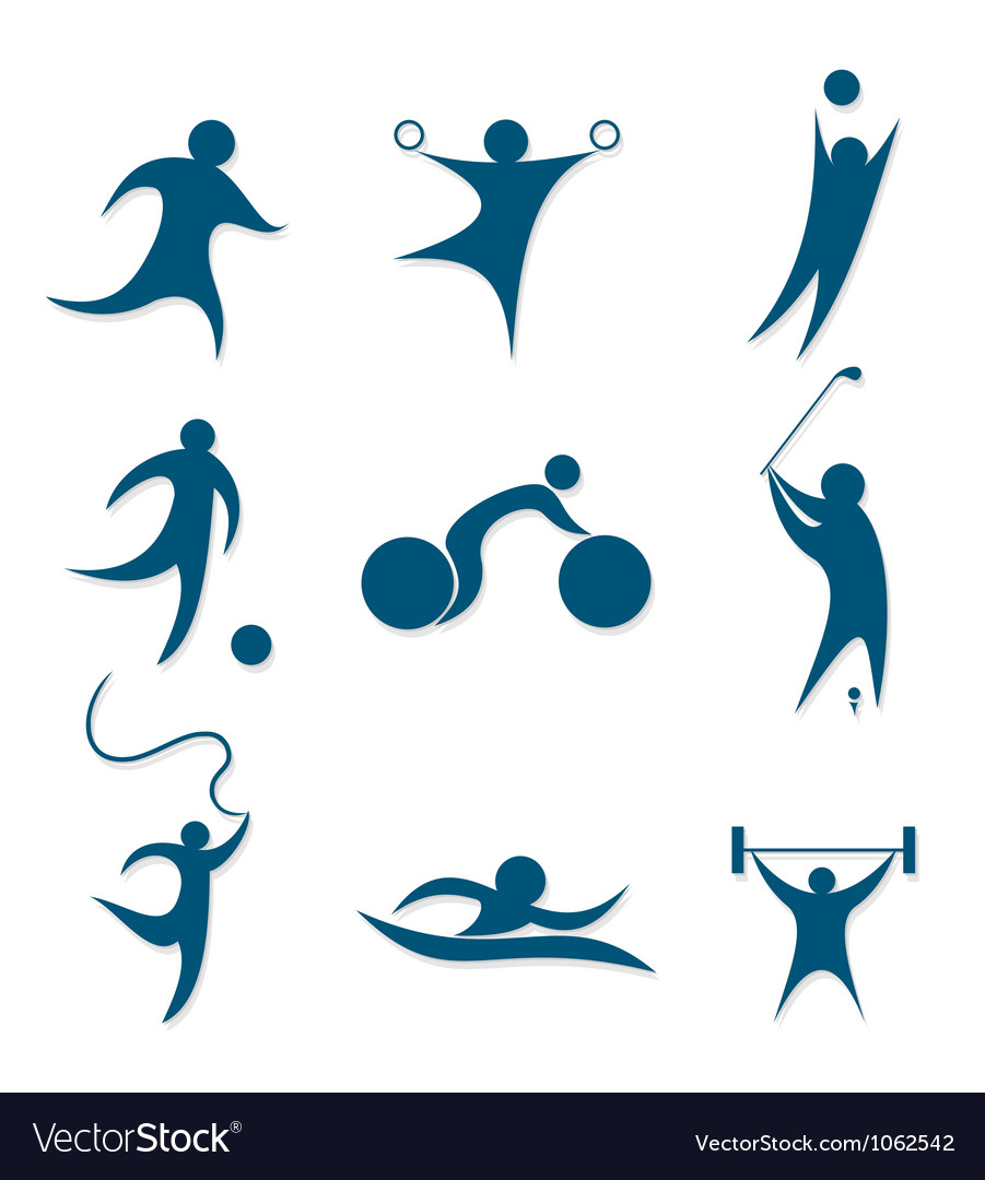 Icons sports vector