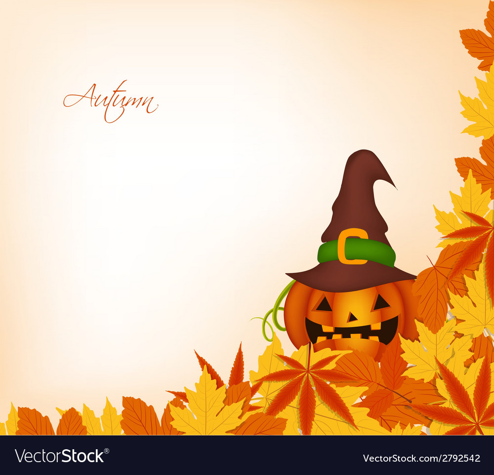 Pumpkin autumn background vector | Price: 1 Credit (USD $1)