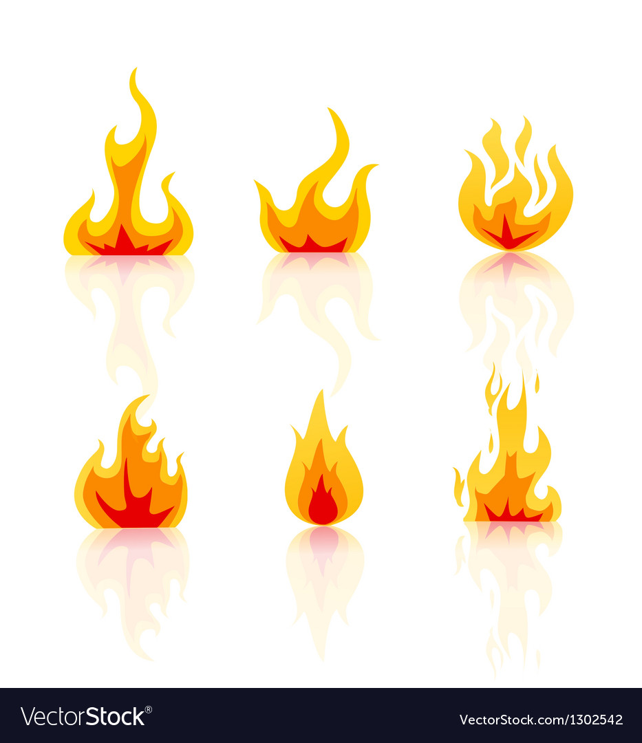 Set of fire icons vector | Price: 1 Credit (USD $1)