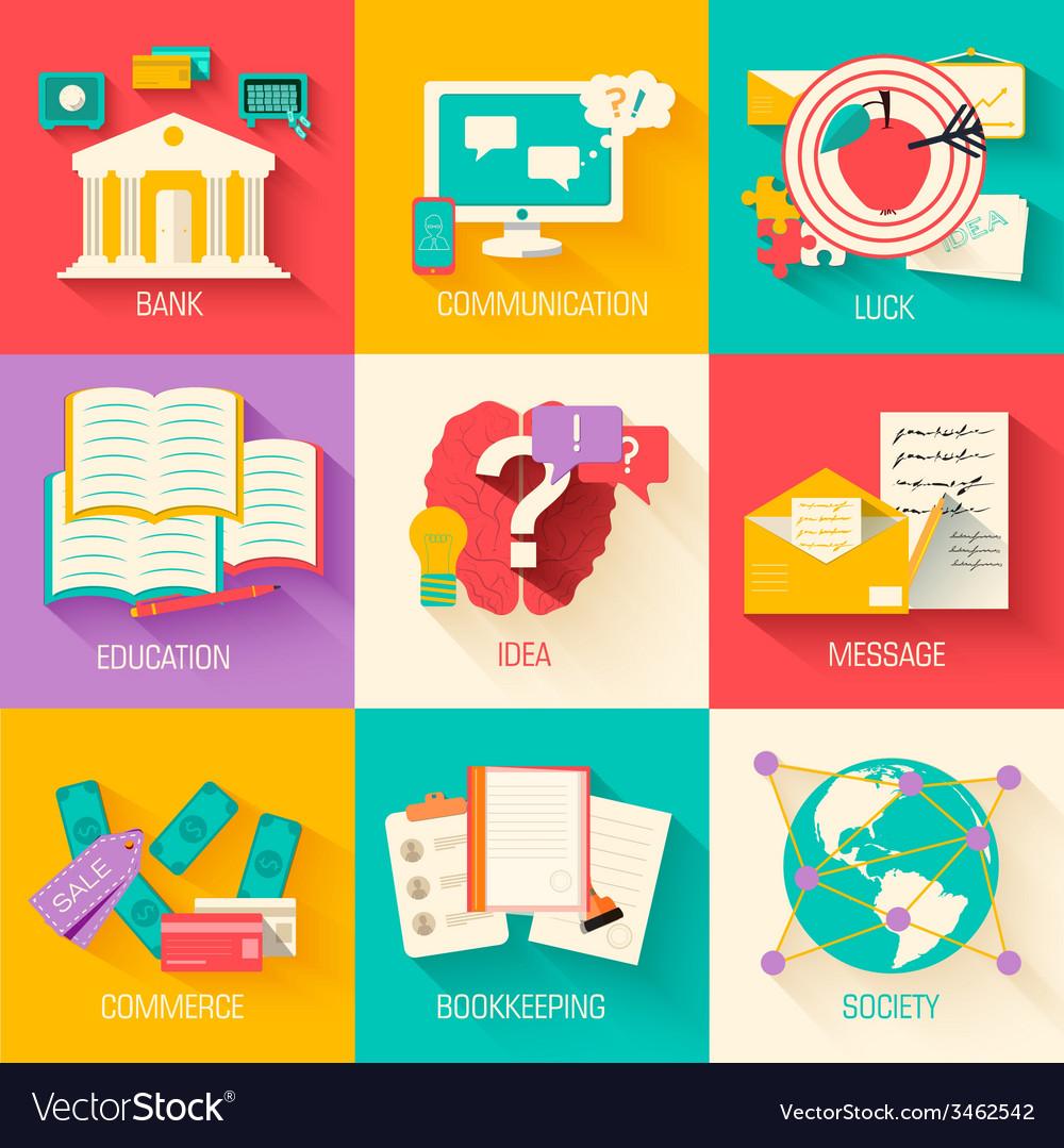 Set of social business life design  backgr vector | Price: 1 Credit (USD $1)