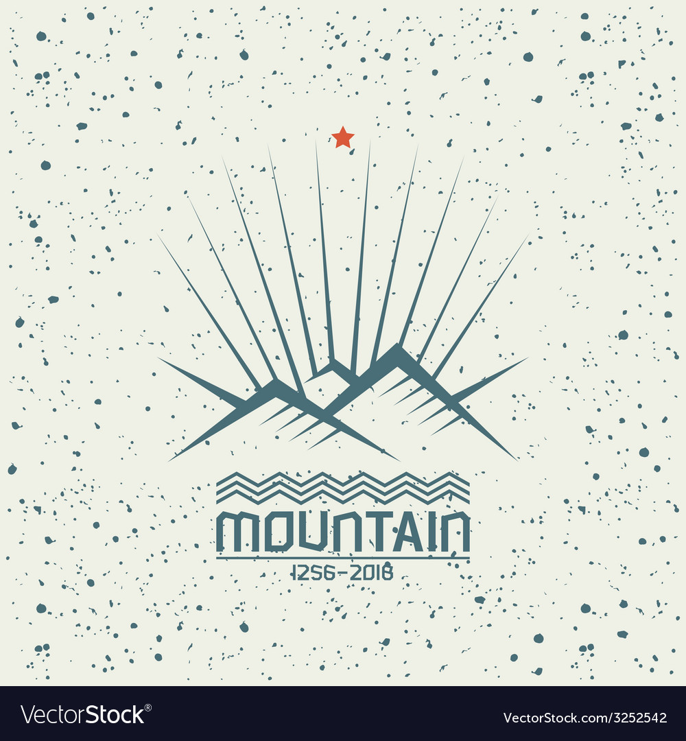 Shining mountain emblem vector | Price: 1 Credit (USD $1)