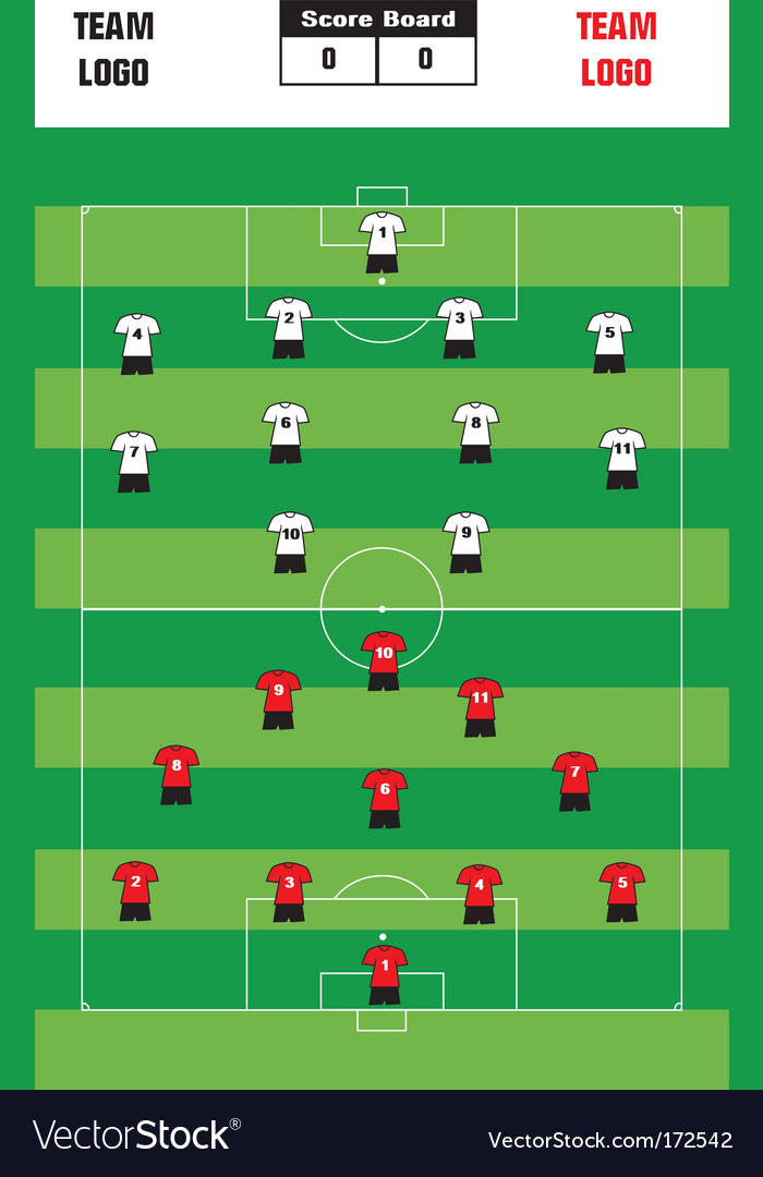 Soccer formation vector | Price: 1 Credit (USD $1)