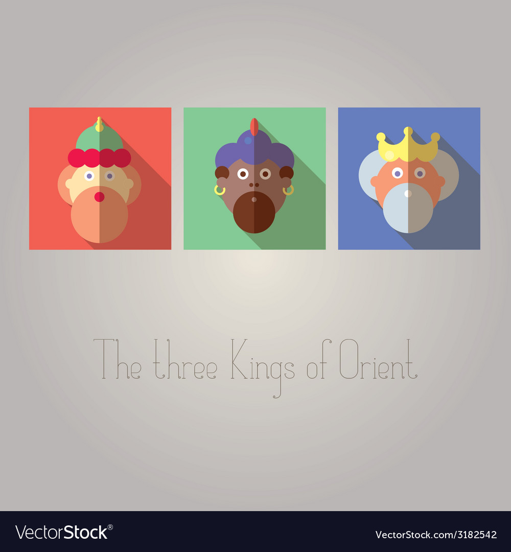 The three kings of orient vector | Price: 1 Credit (USD $1)