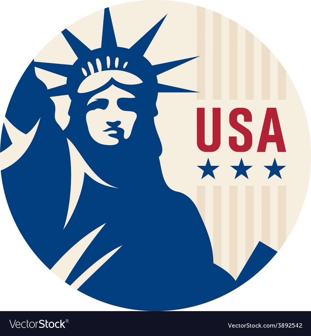 Travel sticker usa vector | Price: 1 Credit (USD $1)