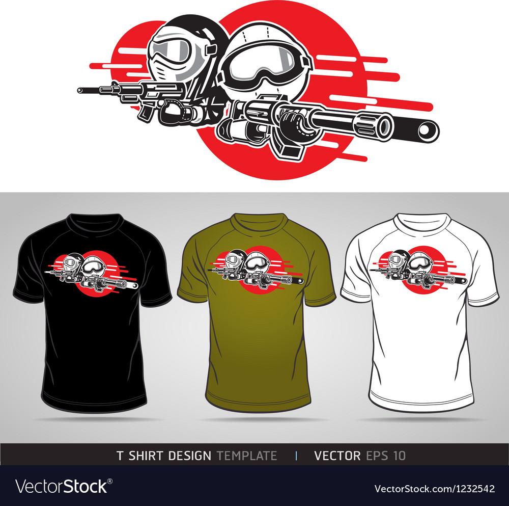 T-shirt cartoon design vector   Price: 1 Credit (USD $1)