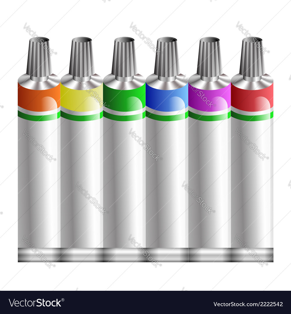 Tubes of paint vector | Price: 1 Credit (USD $1)