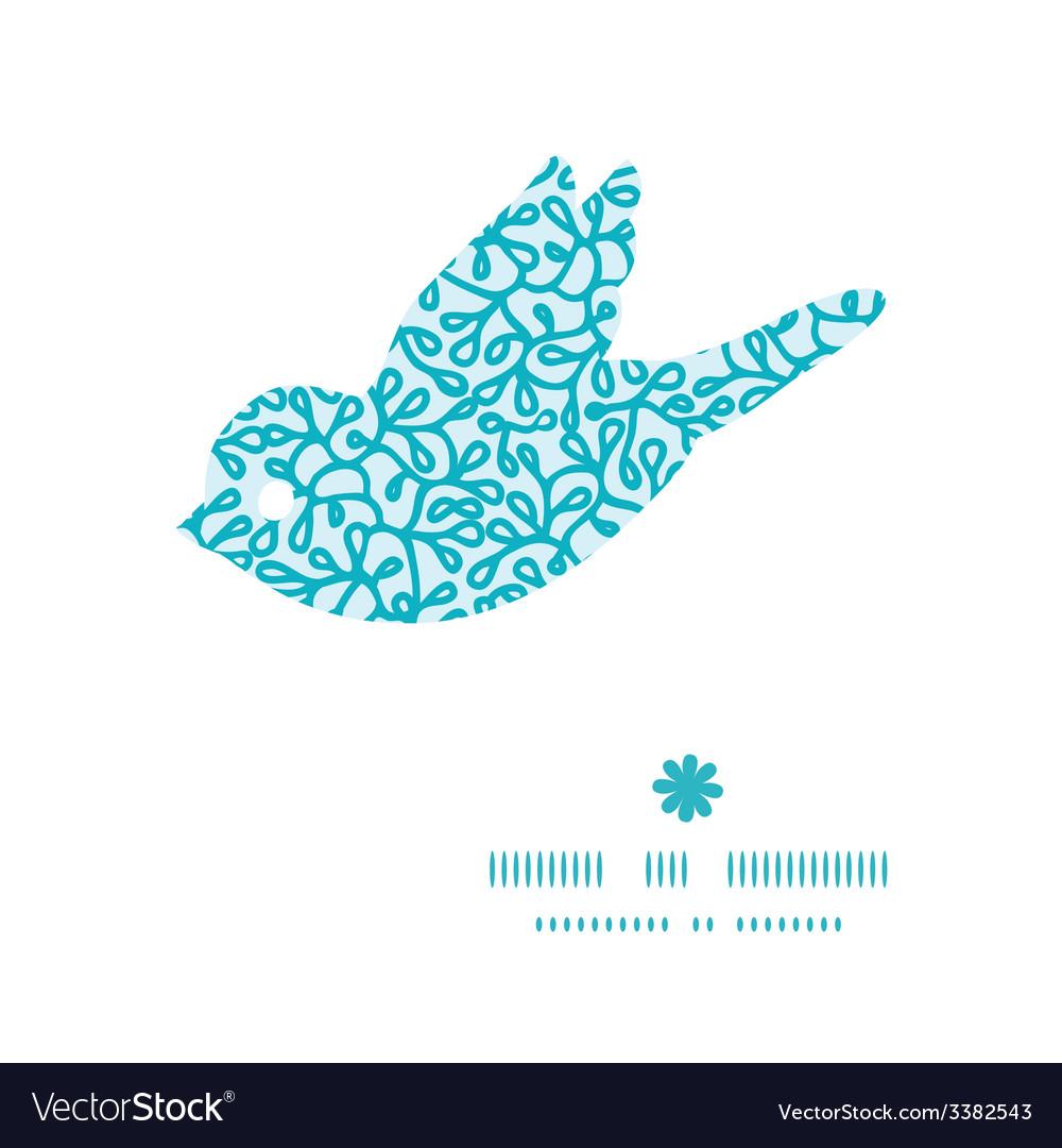 Abstract underwater plants bird silhouette pattern vector | Price: 1 Credit (USD $1)