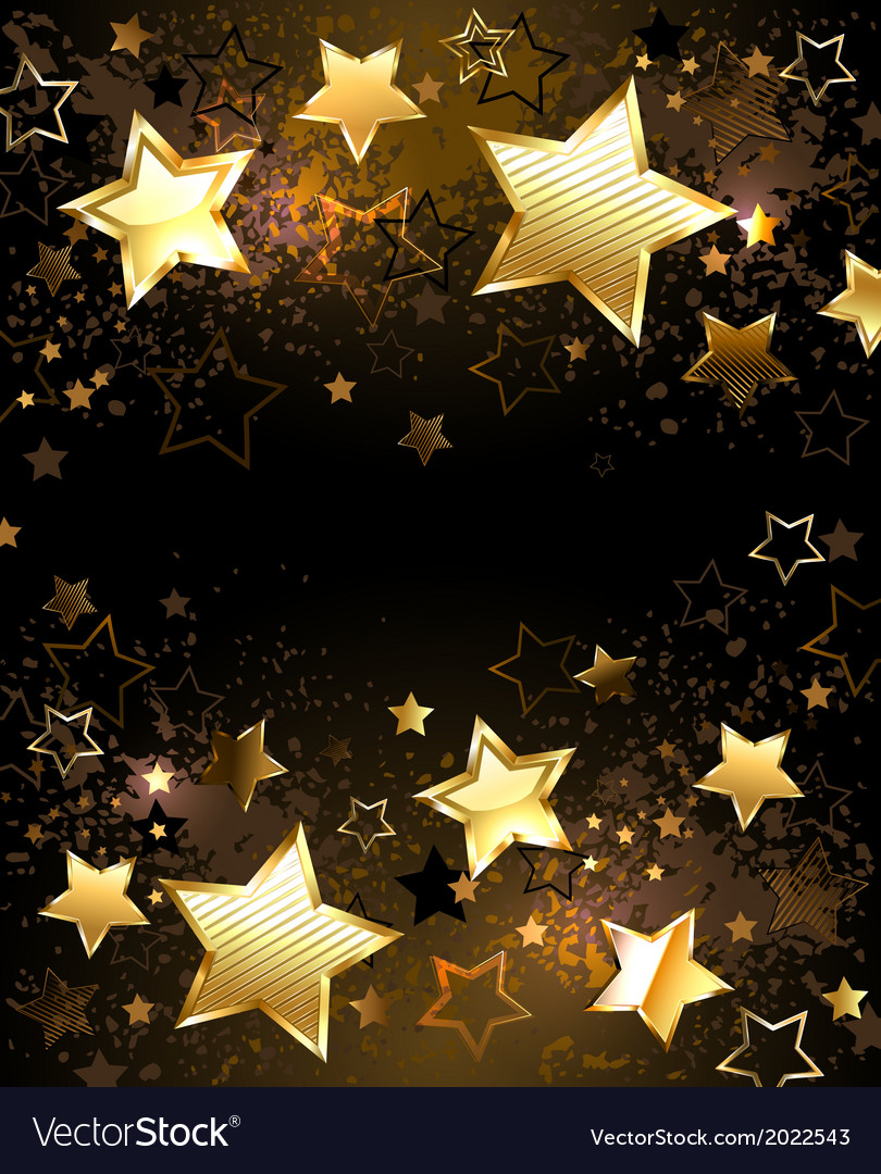 Background with golden stars vector | Price: 1 Credit (USD $1)