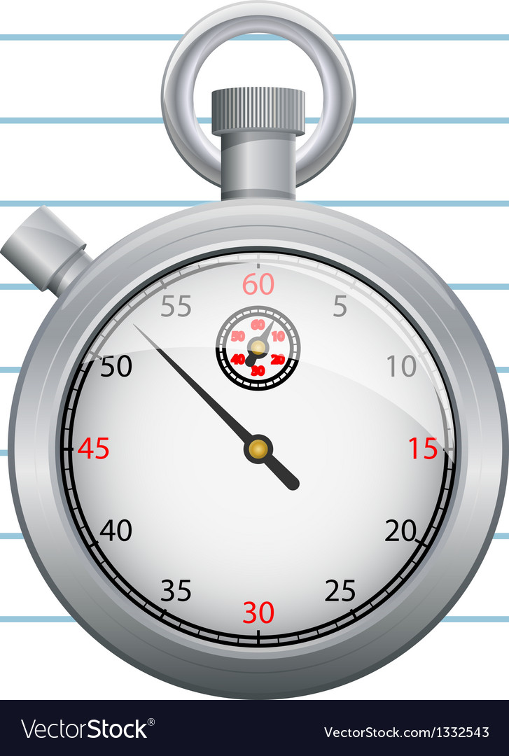 Clipboard with paper and stopwatch vector | Price: 1 Credit (USD $1)