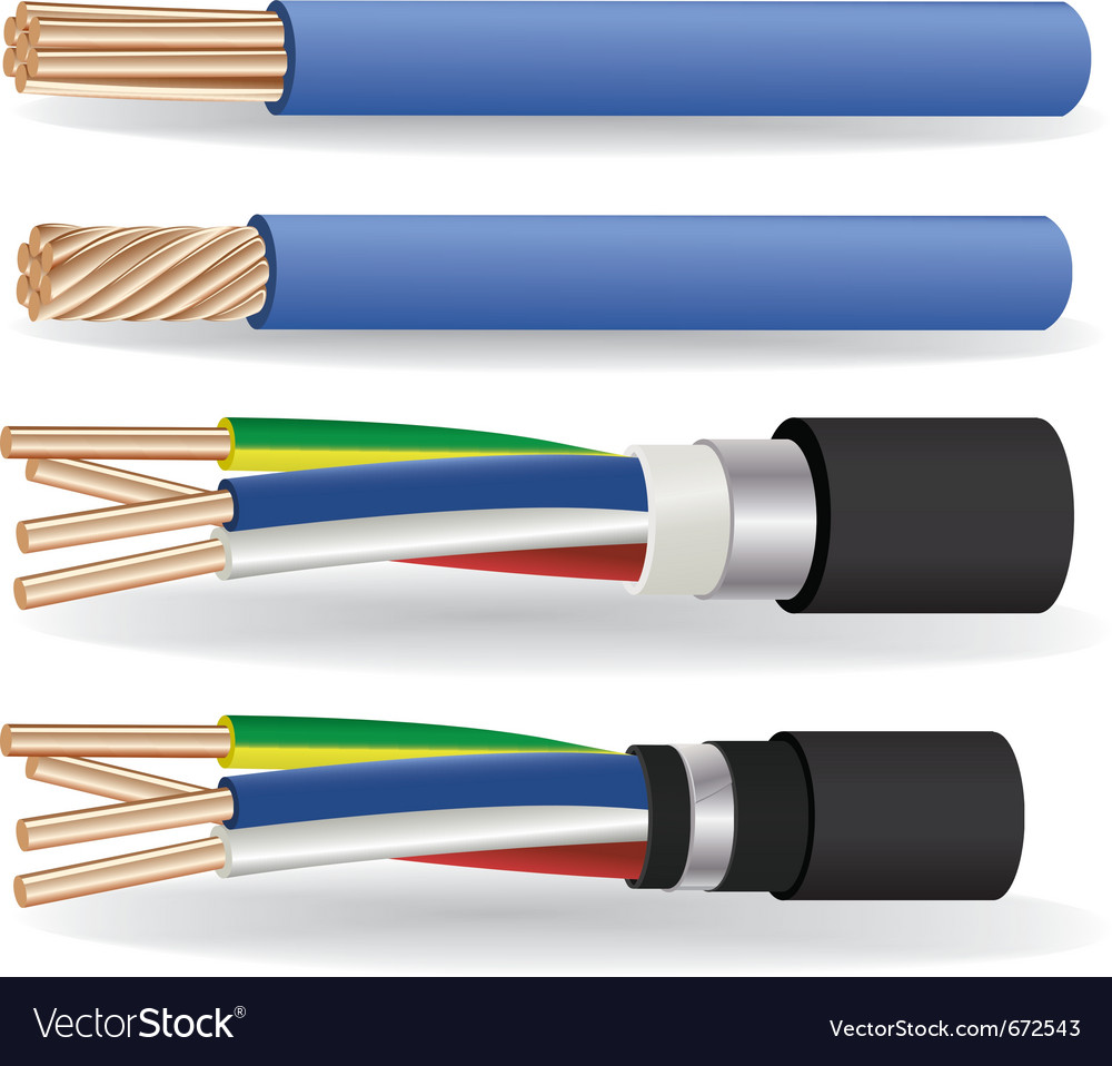 Electric copper cables vector | Price: 3 Credit (USD $3)