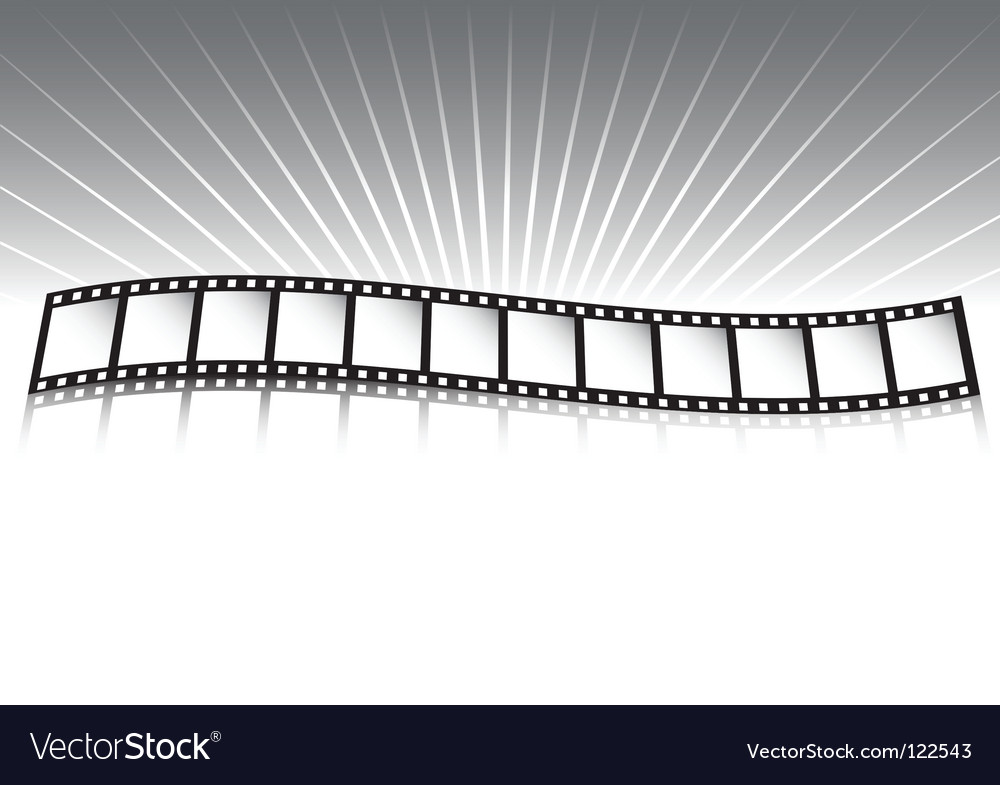 Film strip and rays vector | Price: 1 Credit (USD $1)