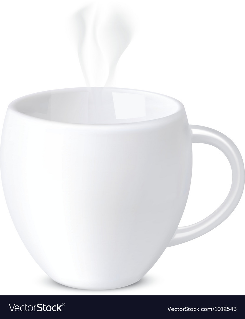 Mug isolated on white vector   Price: 1 Credit (USD $1)