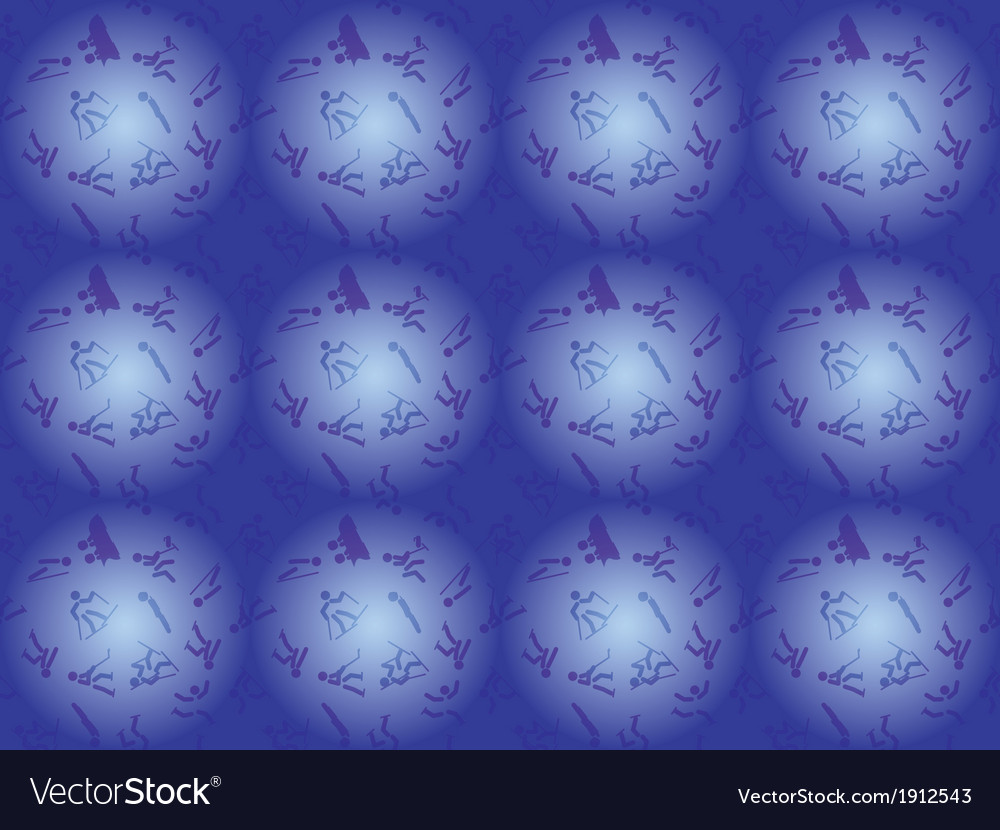 Pattern with winter sports icons vector   Price: 1 Credit (USD $1)