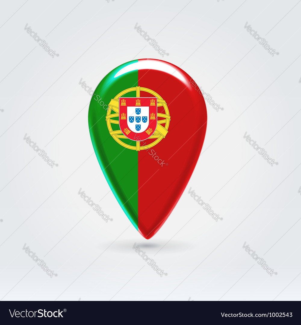 Portugalian icon point for map vector | Price:  Credit (USD $)