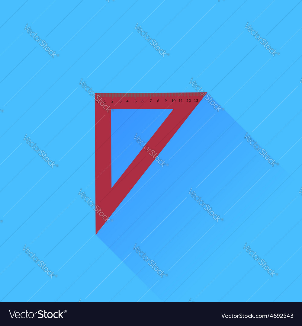 Red ruler vector | Price: 1 Credit (USD $1)
