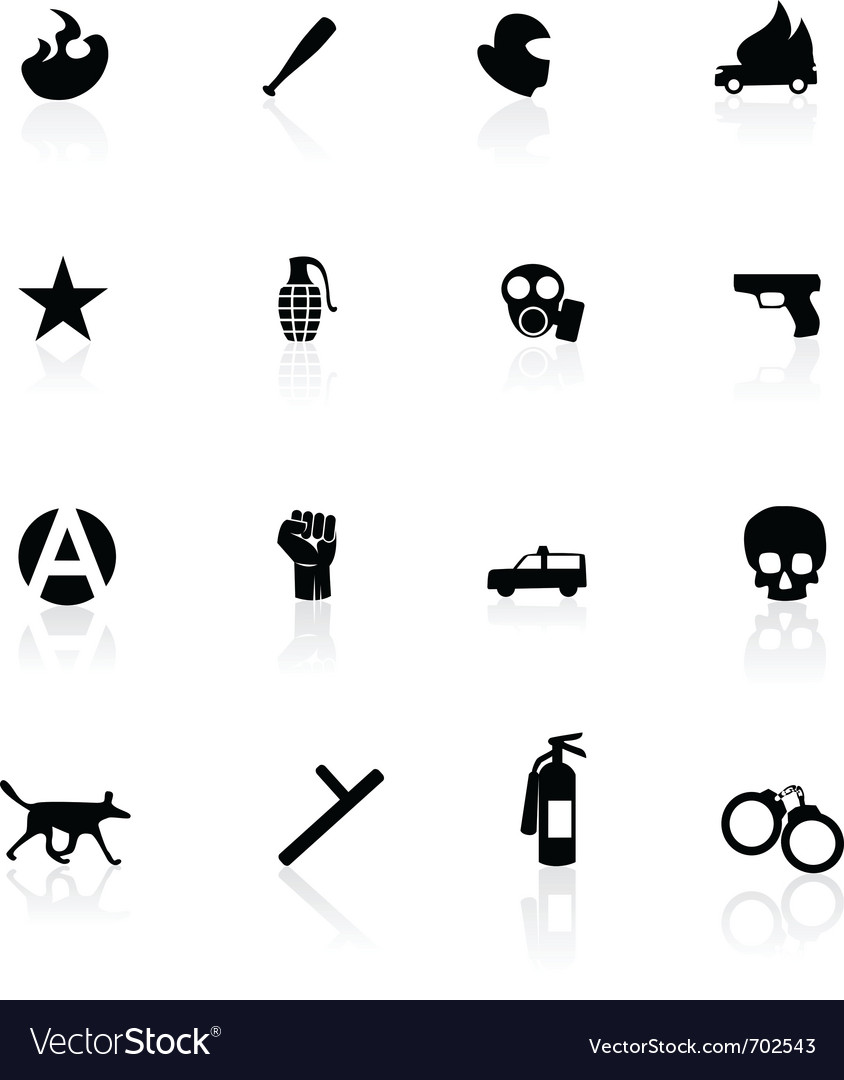 Riot icons vector | Price: 1 Credit (USD $1)