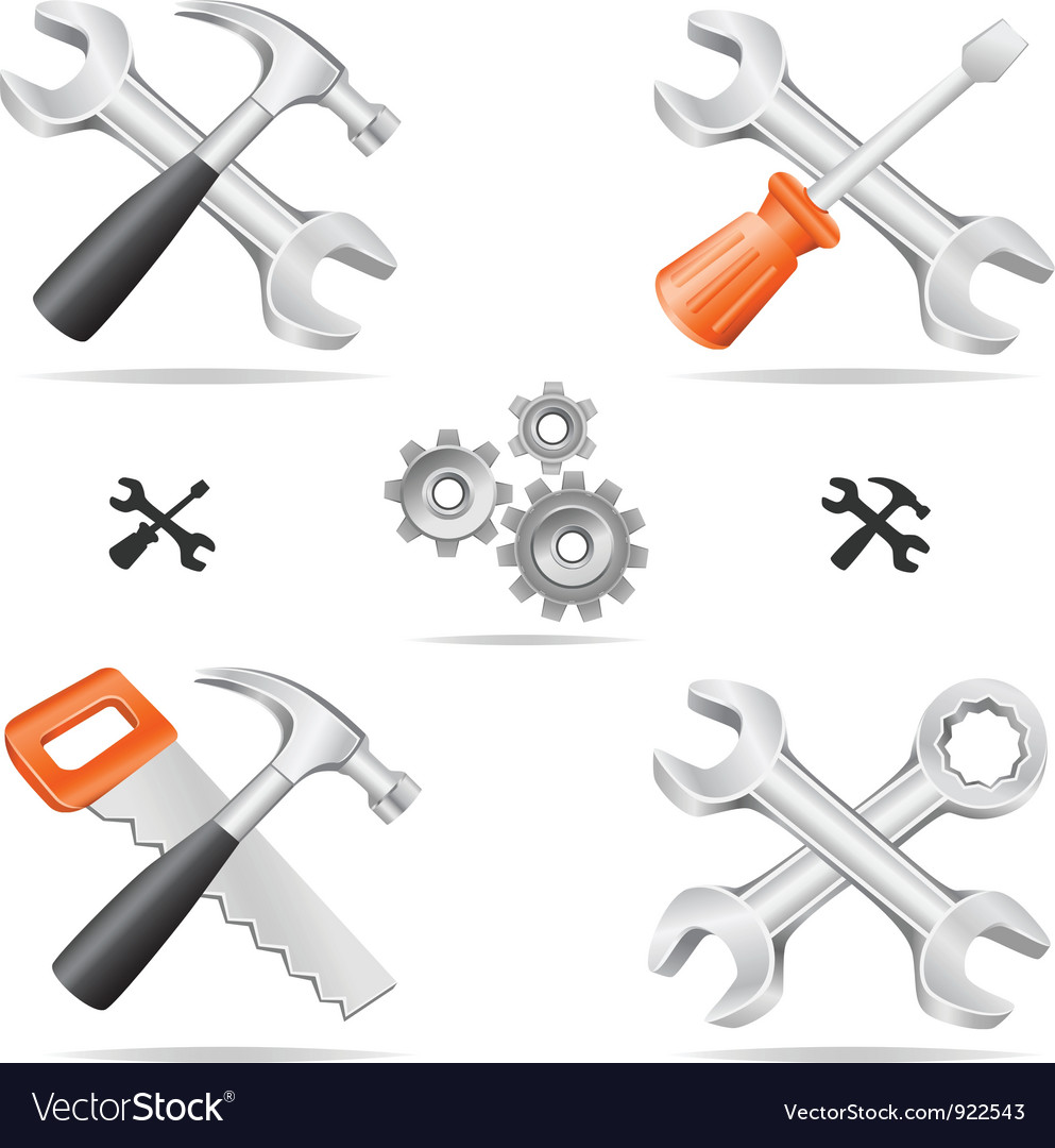 Tools icon set vector | Price: 3 Credit (USD $3)