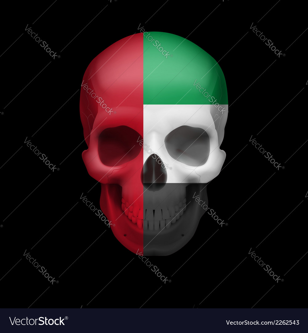 Uae flag skull vector | Price: 1 Credit (USD $1)